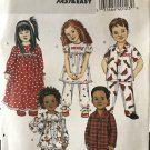 Butterick 4647 childrens' nightgown pajamas sewing pattern size 1 2 3