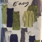New Look 6627 Easy Misses Tops jackets dress and pants Sewing Pattern sizes 8-18