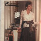 Simplicity 7163 Connoisseur Collection Misses' Blouse, Camisole, Skirt Sash Sewing Pattern Size 6
