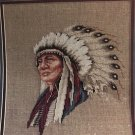 Leisure Arts 834 Hollow Horn Bear Indian Chief Cross Stitch Pattern