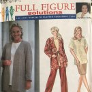 Simplicity 9474 Misses Full Figure Solutions Top Skirt Slacks Sewing Pattern plus size 18W to 24W
