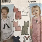 Simplicity 5982 Toddler Sailor Outfit boys girl tops shorts size 1/2 1 2 3 4 sewing pattern