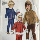 """Simplicity 8473 Child's Hooded Jacket and Overpants Sewing Pattern Size 5 breast 24"""" waist 21 1/2"""""""