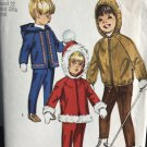 "Simplicity 8473 Child's Hooded Jacket and Overpants Sewing Pattern Size 3 breast 22"" waist 20 1/2"""