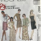 McCall's 9687 Misses' 2 hour skirt in different lengths Sewing Pattern Size 12, 14