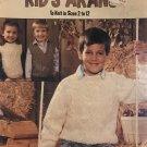 Kids Arans Sweaters to knit is size 2 - 12 Leisure Arts 670 Knitting Pattern