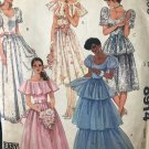 McCalls 8914 Junior Petite Gown or Dress and Slip Sewing Pattern size 5 - 9 junior petite