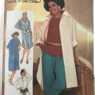 Simplicity 6846 Misses shirt dress Ali McGraw Tunic top pants Big shirt sewing pattern. SZ 12