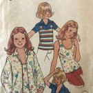 """Butterick 4891 Girls Tops Size 8 sewing pattern breast 27"""""""