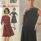 Simplicity 6167 Misses one piece dress with detachable collar and cuffs sewing pattern. SZ 12