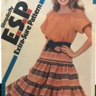 Simplicity 5930 Pull-on Skirt and Pullover Top sewing pattern. SZ 12 14