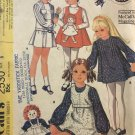 McCall's 2530 Girls A-Line Dress Jumper with Raggedy Ann Pocket Sewing Pattern Size 5