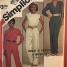 Simplicity 6207 Misses' Jumpsuit with Neckline Variations sewing pattern size 14 16