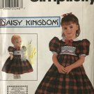 "Simpliicity 9917 Daisy Kingdom Pattern Child's Dress & Matching 18"" DOLL DRESS Child's Sizes 3 4 5 6"