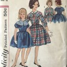 1960s One-Piece Dress Detachable Collar Simplicity 4238 Sewing Pattern size 12