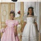 Butterick 5900 It's Enchanting Flower Girl Communion dress Sewing Pattern Child size 2 3 4 5