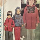 McCall's 4690 Children's Toddlers Unlined Coat or Jacket sewing pattern size 2