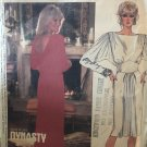 McCall's 2275 DYNASTY Linda Evans Womens Evening Maxi Dress Draped Back 1980s Sewing Pattern Size 14