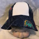 Toddler hat with 14 ct Aida Fabric Insert for Cross Stitch Dinosaur Theme
