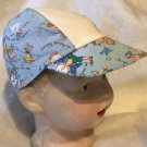Baseball Cap Hat for Toddler Child has 14 ct. Aida Fabric Insert for personalizing with cross stitch