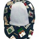 Baseball Cap Hat for Toddler has 14 ct. Aida Fabric Insert for cross stitch Preschool theme