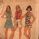 Simplicity 5688 Top-stitched halter-jumpsuit with front band button closing Size 16 Sewing Pattern