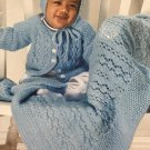 Lacy Baby Sets to Knit Leisure Arts 4440 Cynthia Guggemos 9 projects