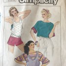 Simplicity 6950 Misses' Set of Easy-To-Sew Tops for stretch knits only Sewing Pattern size 8 10 12