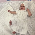 Baby Book Knit and Crochet Pattern Booties Bonnets afghans American School of Needlework 1034