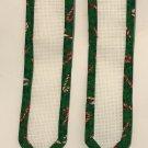 Cross stitch 2 Jingle Bell Bookmarks 14 ct Aida Fabric for cross stitch Candy Cane Holiday Theme
