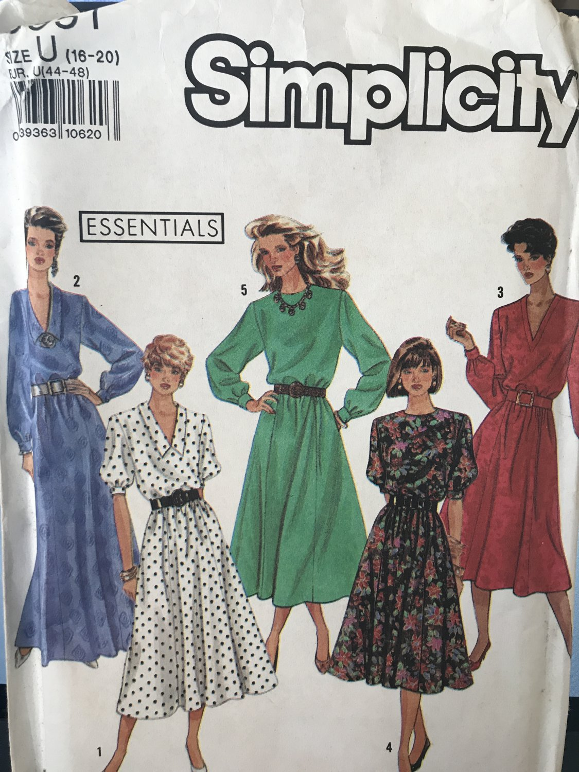 Simplicity Sewing Pattern 9951 Misses' Easy to Sew Dress in 3 lengths Size 16 - 20