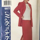 Butterick 6977 See & Sew Top and Skirt sewing Pattern Size 6 - 8 - 10