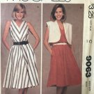 McCall's 9063 Misses' Jacket and Dress Size 10 bust 32 1/2 UNCUT Sewing Pattern