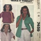 McCall's 7459 Misses' Buttoned Shirt Size 12 bust 34 sewing pattern