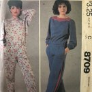 McCall's 8709 Sewing Pattern Stretch Knits Only Elastic Pull On Pants Yoke Top Long Sleeves Pants