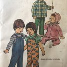 Simplicity 5334 Toddler's Overalls, Jacket and Hat size 1/2 chest 19, waist 19 sewing pattern