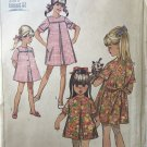 Simplicity 7465  Child's and Girl's Dress Size 8 bust 28¨ Vintage Sewing Pattern