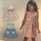 Simplicity 1867 Child's Summer Dress Sewing Pattern Size 3 - 8