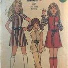 "Butterick 6294 Girls' Dress or Jumper & Pants.Size 10 Bust 28 1/2"" Sewing Pattern"
