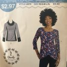 McCalls 9579 Misses' Knit Tops Sized for Stretch Knits Only sizes XS to XL Sewing Pattern