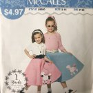 McCalls 9600 Sew Simple Child Girls' Poodle Skirt Sewing Pattern Size 3-14