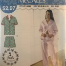 McCalls 9583 Misses Pajamas sizes XS to XL Sewing Pattern