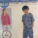 McCalls 9586  Sew Simple Childrens' Girls Boys Loungewear Sewing Pattern size 3 - 8