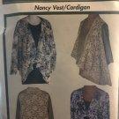 Nancy Vest Cardigan Pattern Sewkeys E Sewing Pattern One Size Fits All UNCUT