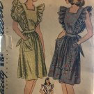 Simplicity 4632 Dress or Pinafore  Size 14 bust 32 sewing pattern 1940's