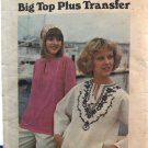 Butterick 4165 Misses' Peasant Blouse Top & Embroidery Transfer Sewing pattern size 14
