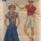 Butterick 5373 Misses' Culottes, Shirt and Burmuda Shorts Size 16 Sewing Pattern