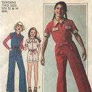 Simplicity 7949 Girls' Jumpsuit in Two lengths Sewing Pattern Size 12 14