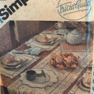 Simplicity 6229 Instructions for Table Runner Placemats Napkins Napkin Rings Bun Cozy Trivits