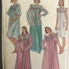 Simplicity 7643 Misses Pullover Nightgown and Robe in Two Lengths and Bed Jacket Size 18 - 20